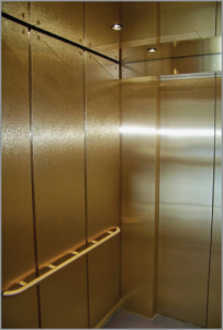 Brass Elevator Interior